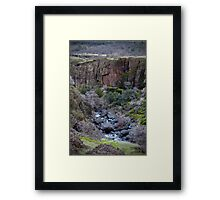 Iron Canyon Vertical  Framed Print