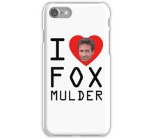 I Heart Fox Mulder iPhone Case/Skin