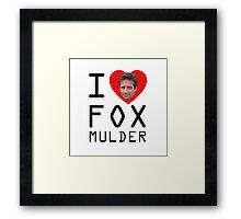 I Heart Fox Mulder Framed Print