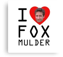 I Heart Fox Mulder Canvas Print
