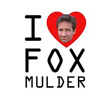 I Heart Fox Mulder Photographic Print