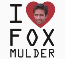 I Heart Fox Mulder One Piece - Short Sleeve