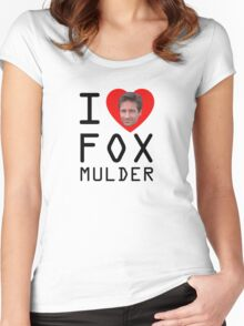 I Heart Fox Mulder Women's Fitted Scoop T-Shirt