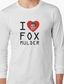 I Heart Fox Mulder Long Sleeve T-Shirt