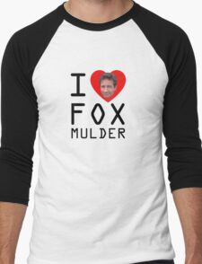 I Heart Fox Mulder Men's Baseball ¾ T-Shirt