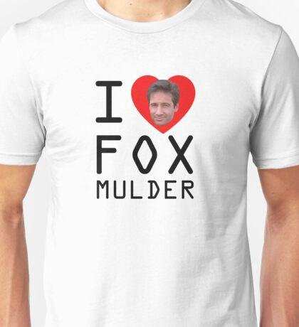I Heart Fox Mulder Unisex T-Shirt