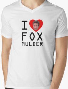 I Heart Fox Mulder Mens V-Neck T-Shirt
