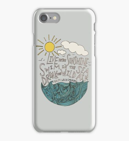 Emerson: Live in the Sunshine iPhone Case/Skin