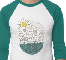 Emerson: Live in the Sunshine Men's Baseball ¾ T-Shirt