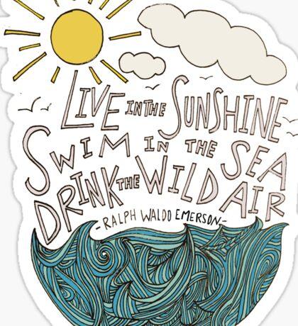 Emerson: Live in the Sunshine Sticker