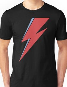 Ziggy Stardust - Lightning - On Black Star  Unisex T-Shirt