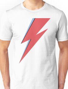 Ziggy Stardust - Lightning - On Black Star  Unisex T-Shirt