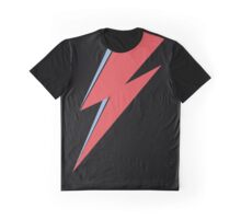Ziggy Stardust - Lightning - On Black Star  Graphic T-Shirt