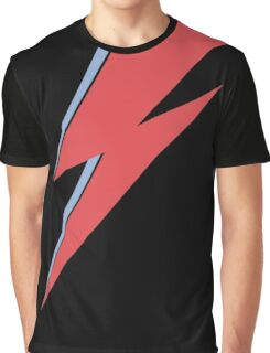 Ziggy Stardust - Lightning - On Black Star  Graphic T-Shirt