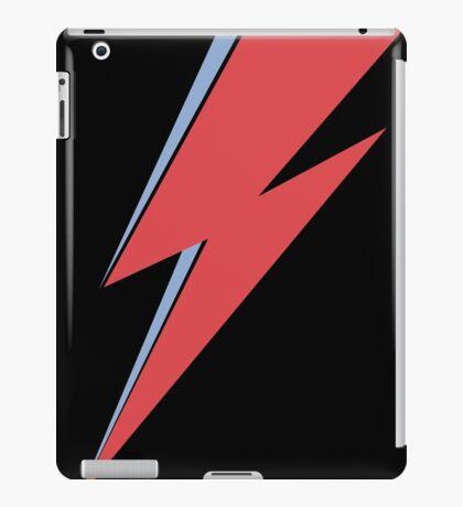 Ziggy Stardust - Lightning - On Black Star  iPad Case/Skin
