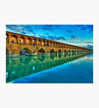 Si-o-Seh Pol (Bridge) - Isfahan - Iran - Daylight Photographic Print