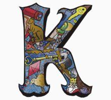 Doodle Letter K Baby Tee