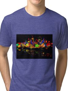 Chihuly Glass Boat Tri-blend T-Shirt