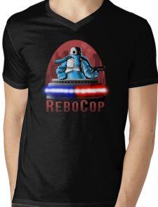 REBOCOP Mens V-Neck T-Shirt
