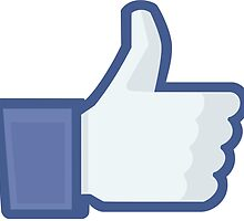 Facebook like button  by dizioboy