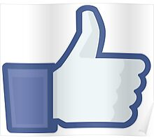 Facebook like button  Poster
