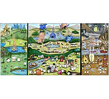 The Mallow Garden of Earthly Delights Photographic Print
