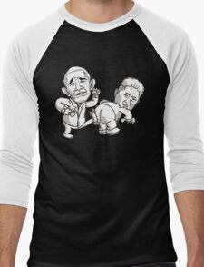 obama kick kim jong un Men's Baseball ¾ T-Shirt