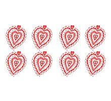 Valentine Heart 8 Red  Photographic Print