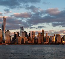 Sunset Over NYC by LizzyWake