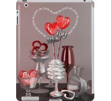 You & Me In Love Red Platinum Valentine Hearts iPad Case/Skin