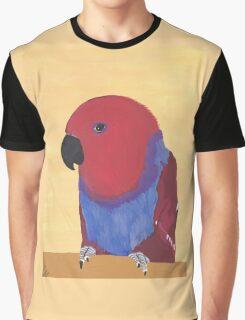 Female Eclectus Parrot Portrait Graphic T-Shirt