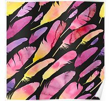 - Watercolor feathers 2 - Poster