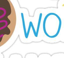 """""""Donut Worry, Be Happy"""" Sticker"""