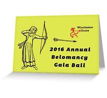 Annual Belomancy Ball Greeting Card