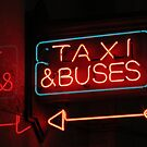 taxis & buses by Bruce  Dickson