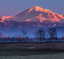 Pastoral Mount Baker Sunset by Jim Stiles