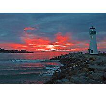 Firey Lighthouse Photographic Print