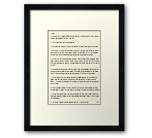 I vow to... Framed Print