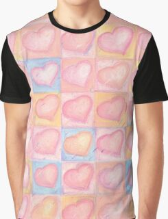 Romantic Pink Chalk Pastel Valentine Hearts Pattern - Love - Wedding  Graphic T-Shirt