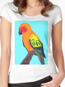 Sun Conure Portrait  Women's Fitted Scoop T-Shirt