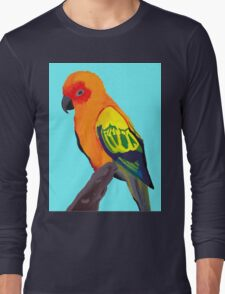 Sun Conure Portrait  Long Sleeve T-Shirt