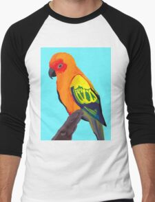 Sun Conure Portrait  Men's Baseball ¾ T-Shirt