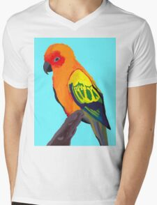 Sun Conure Portrait  Mens V-Neck T-Shirt