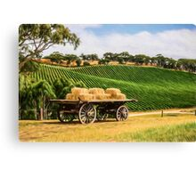 Hay Wagon (GO3) Canvas Print