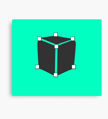 Cube Polygon Canvas Print
