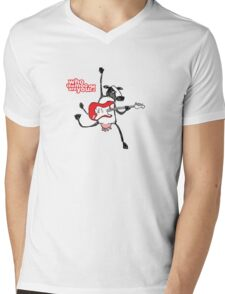 Who the moo are you?! Mens V-Neck T-Shirt