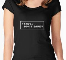 SAVE? DON'T SAVE? Women's Fitted Scoop T-Shirt