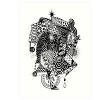 Geometric 1 - Going Xmas Shopping - Aussie Tangle Art Print