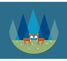 Cute Baby Deer Illustration Photographic Print