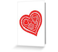 Valentine Heart 10 Red  Greeting Card